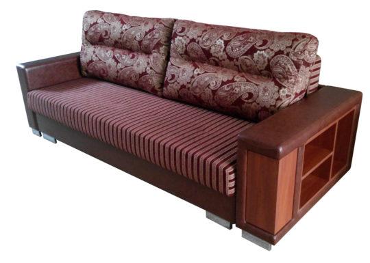 Диван-кровать «Венталь 150 бар / полки» прямой