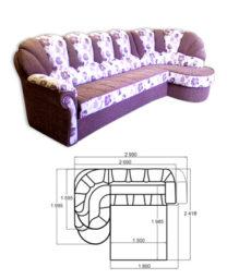 Диван-кровать «Угловой Ювис 180»