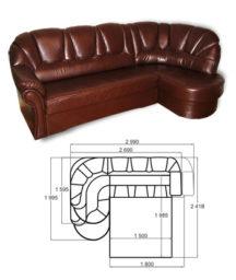 Диван-кровать с нишами для белья «Угловой Ювис 150»