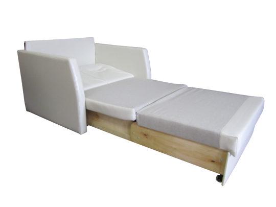 """прямой диван-кровать """"Кардинал 95"""" разложенный вид"""